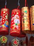 Decorazioni cinesi variopinte di nuovo anno Immagini Stock Libere da Diritti