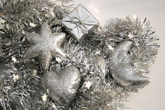 Decorazioni d'argento Immagine Stock Libera da Diritti