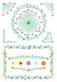Decorazioni dei fiori e del gambo Fotografia Stock