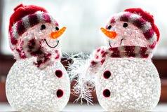Decorazioni dei pupazzi di neve Fotografia Stock
