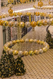 Decorazioni del centro commerciale di Natale Fotografie Stock