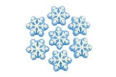 Decorazioni del fiocco di neve alfa immagine stock libera da diritti
