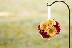 Decorazioni del fiore di nozze Fotografie Stock Libere da Diritti