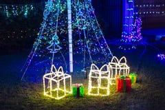 Decorazioni del giardino di Natale Fotografia Stock