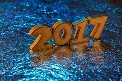 Decorazioni del nuovo anno Fotografia Stock Libera da Diritti