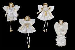 Decorazioni del nuovo anno e di Natale per l'albero di Natale: bianco Immagini Stock