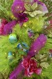 Decorazioni del rosa e del verde Fotografia Stock Libera da Diritti