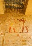 Decorazioni del tempio di Hatshepsut Fotografia Stock