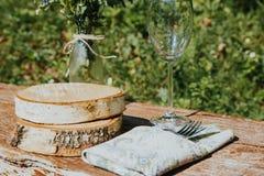 Decorazioni del villaggio di nozze fotografia stock