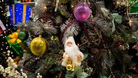 Decorazioni dell'albero di festa di Natale Fotografie Stock