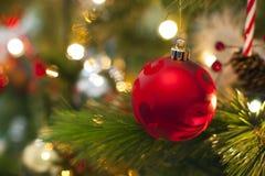 Decorazioni dell'albero di Natale Fotografie Stock