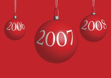 Decorazioni dell'albero di Natale illustrazione di stock