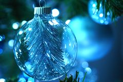 Decorazioni dell'albero di Natale Immagini Stock