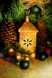 Decorazioni dell'albero di Natale, ancora vita. Immagini Stock