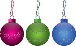 Decorazioni dell'albero di Natale di nuovo anno illustrazione vettoriale