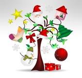 Decorazioni dell'albero di Natale e piacevole originali Immagini Stock Libere da Diritti