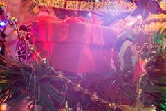 Decorazioni dell'albero di Natale macro fotografia stock