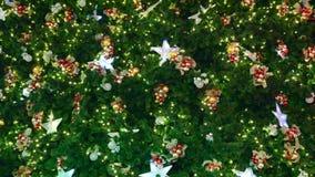 decorazioni dell'Natale-albero stock footage