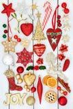 Decorazioni della bagattella di Natale Fotografia Stock Libera da Diritti
