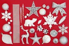 Decorazioni della bagattella di Natale Immagini Stock Libere da Diritti