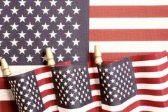 Decorazioni della bandiera americana per il quarto luglio Fotografia Stock Libera da Diritti