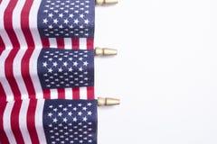 Decorazioni della bandiera americana per il quarto luglio Fotografia Stock