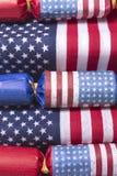Decorazioni della bandiera americana per il quarto luglio Immagini Stock
