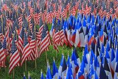 Decorazioni della bandiera - una festa americana Fotografia Stock