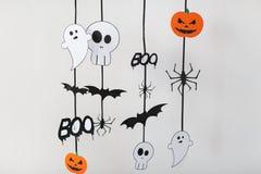 Decorazioni della carta del partito di Halloween Immagine Stock