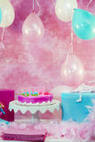 Decorazioni della festa di compleanno Fotografie Stock Libere da Diritti