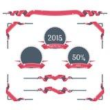 Decorazioni della pagina del nuovo anno Immagini Stock
