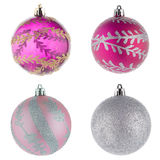 Decorazioni della palla di Natale Fotografia Stock