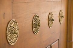 Decorazioni della porta nella moschea di Suleiman Fotografia Stock Libera da Diritti