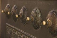 Decorazioni della porta nella moschea di Sultanahmet Fotografie Stock