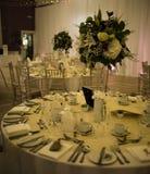 Decorazioni della Tabella della sede, di evento o di nozze fotografie stock