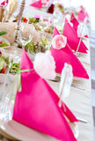 Decorazioni della Tabella di nozze Immagine Stock