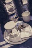 Decorazioni della tavola di festa Fotografie Stock Libere da Diritti