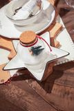 Decorazioni della tavola di festa Fotografia Stock