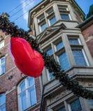 Decorazioni della via di Natale immagine stock