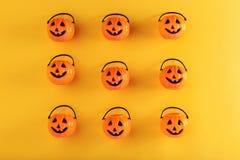 Decorazioni della zucca di Halloween Fotografia Stock