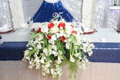 Decorazioni di celebrazione di Aniversary Immagini Stock