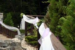 Decorazioni di cerimonia nuziale fotografia stock