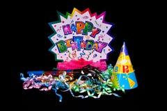 Decorazioni di compleanno Immagine Stock Libera da Diritti
