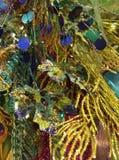 Decorazioni di festa di verde blu Fotografia Stock