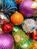 Decorazioni di festa di Natale Fotografia Stock