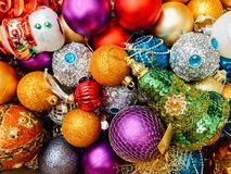 Decorazioni di festa di Natale Immagini Stock Libere da Diritti