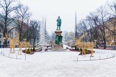 Decorazioni di festa per il Natale Helsinki Fotografie Stock Libere da Diritti