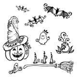 Decorazioni di Halloween Fotografia Stock Libera da Diritti