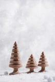 Decorazioni di legno dell'albero di Natale Fotografie Stock Libere da Diritti