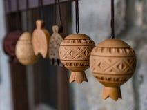Decorazioni di legno scolpite Immagini Stock
